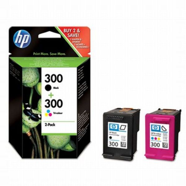 HP Tintenpatrone Nr. 300 Schwarz/dreifarbig (ca. 165 Seiten)