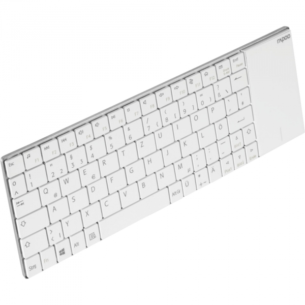 Rapoo E2710 Weiß Kabellose Touch-Tastatur