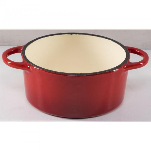 Küchenprofi Provence 10cm rund mini, rot, Gusseisen, 0,3 Liter