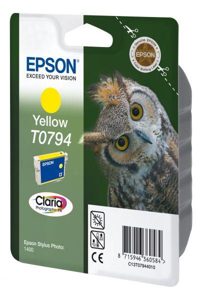 Epson Owl Singlepack Yellow T0794 Claria Photographic Ink