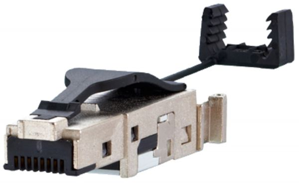 E-DAT Industry IP20 RJ45 field plug black