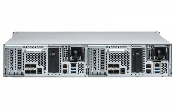 QNAP ES2486dc D-2142IT Eingebauter Ethernet-Anschluss Rack (2U) Schwarz NAS