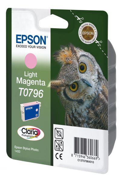 Epson Owl Singlepack Light Magenta T0796 Claria Photographic Ink