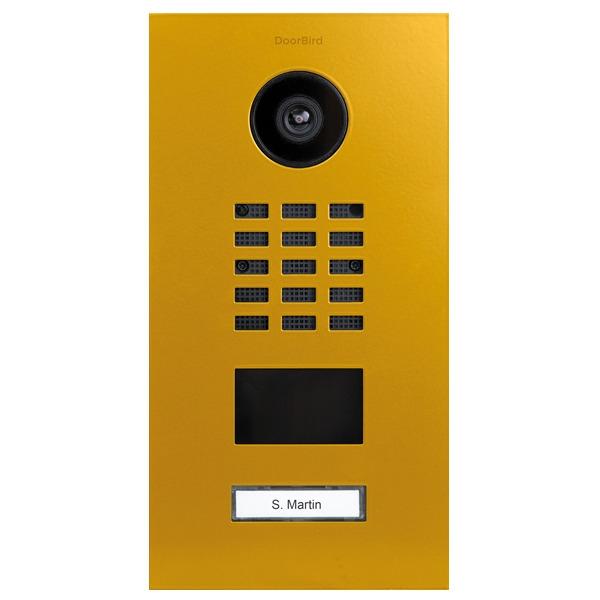 DoorBird D2101V IP Video Türstation, Edelstahl, RAL 1004