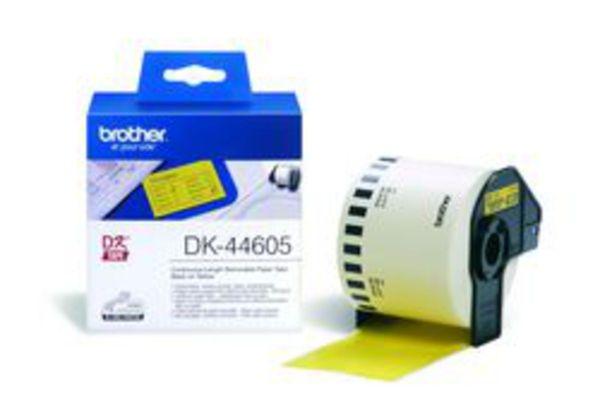 Endlos-Etiketten DK-44605 wiederablösbar gelb, 62mm x 30,48m