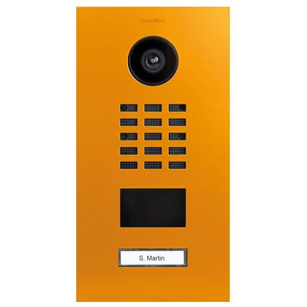 DoorBird D2101V IP Video Türstation, Edelstahl, RAL 1037