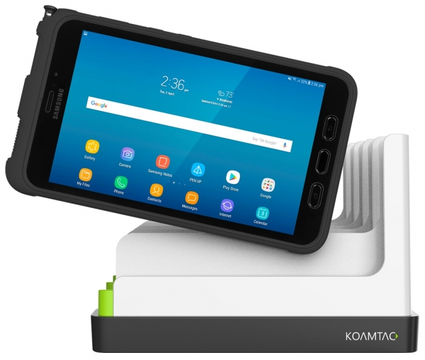 KOAMTAC 5-Slot Ladegerät für Samsung Tab Active 3, weiß