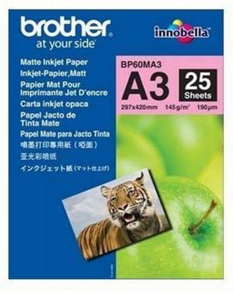 Brother Inkjetpapier matt A3 25 Blatt (bis 6000 dpi) 145g/m²