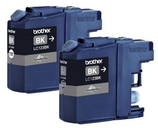 Brother Tintenpatronen LC-123BK Doppelpack Schwarz