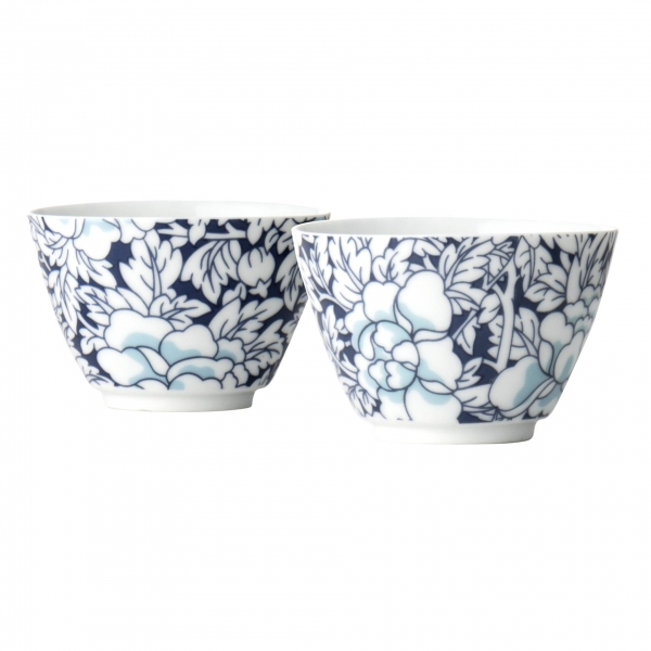 Bredemeijer Teebecher Yantai blau, Porzellan 2er-Set G022BP