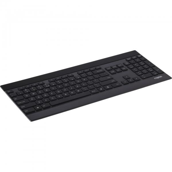 Rapoo E9270 Schwarz Kabellose Metall-Tastatur