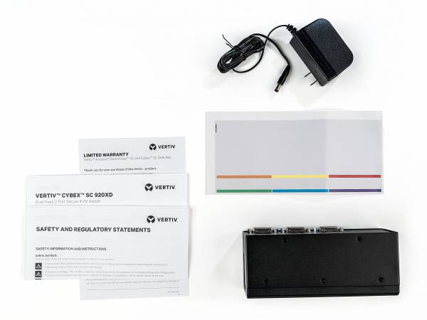 Vertiv Avocent SC920XD-202 Tastatur/Video/Maus (KVM)-Switch Rack-Einbau Schwarz