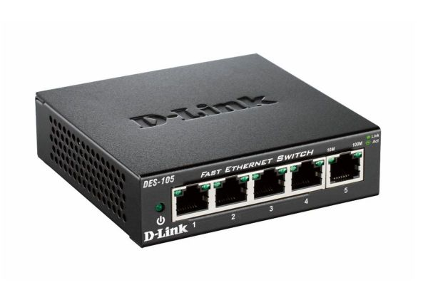 D-Link DES-105 5-Port Layer2 Fast Ethernet Switch