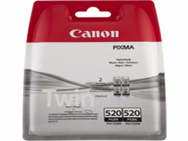 Canon Tintenpatrone PGI-520BK schwarz Doppelpack