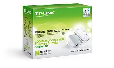 TP-LINK TL-WPA4220KIT PowerLine Netzwerkadapter 300 Mbit/s Eingebauter Ethernet-Anschluss WLAN