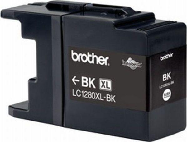 Brother Tintenpatrone LC-1280XLBK Schwarz (ca. 2400 Seiten)