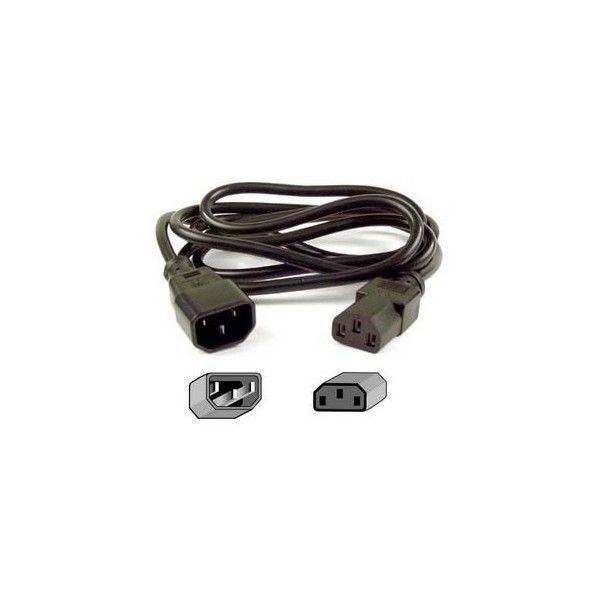 Eaton 1010081 Stromkabel Schwarz 1,7 m C14-Koppler Netzstecker Typ F
