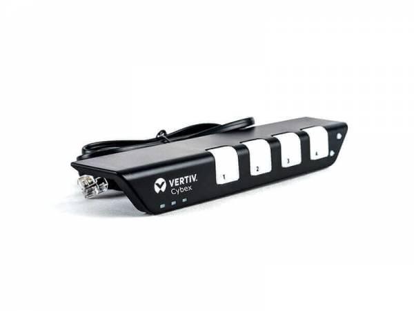 Vertiv AFP0008 Tastatur/Video/Maus (KVM)-Switch Schwarz, Weiß