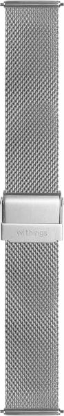 Withings Mesh-Looparmband, 18mm, Steel und Steel HR, Silver