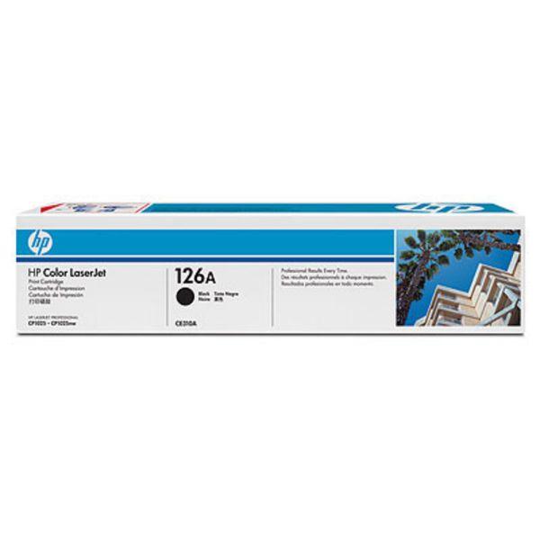 HP Toner CE310A Schwarz (ca. 1200 Seiten) HP126A