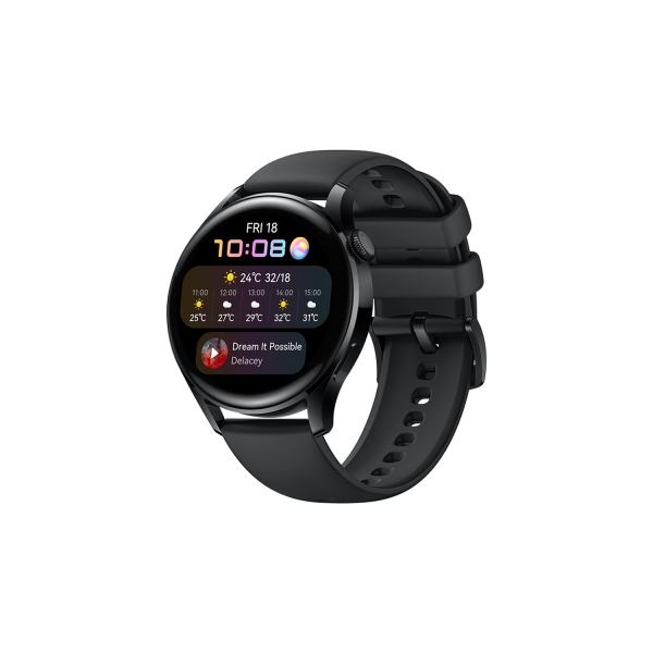 Huawei WATCH 3 3,63 cm (1.43 Zoll) 46 mm AMOLED 4G Schwarz GPS