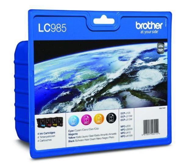 Brother Tintenpatronen LC-985 Multipack (je 1x BK/M/C/Y)