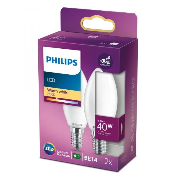 Philips Lampen in Kerzen- und Tropfenform