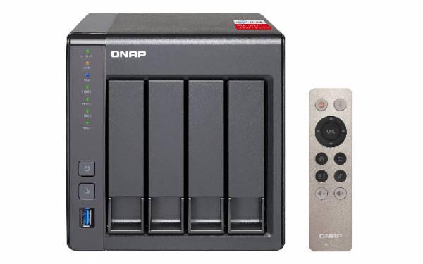 QNAP TS-451+ Eingebauter Ethernet-Anschluss Tower Schwarz NAS
