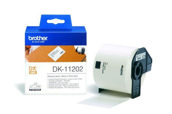 Versandetiketten DK-11202 (300 St.) weiß 62 x 100 mm
