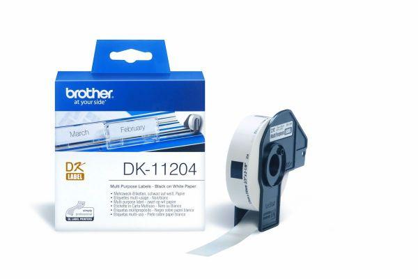 Mehrzwecketiketten DK-11204 (400 St.) weiß 17 x 54 mm
