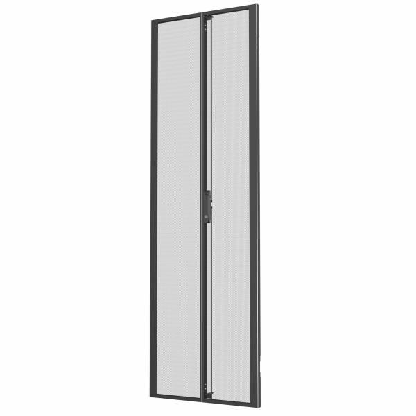 Vertiv 48 HE × Breite 600 mm, geteilte perforierte Türen, Schwarz (2 Stück)