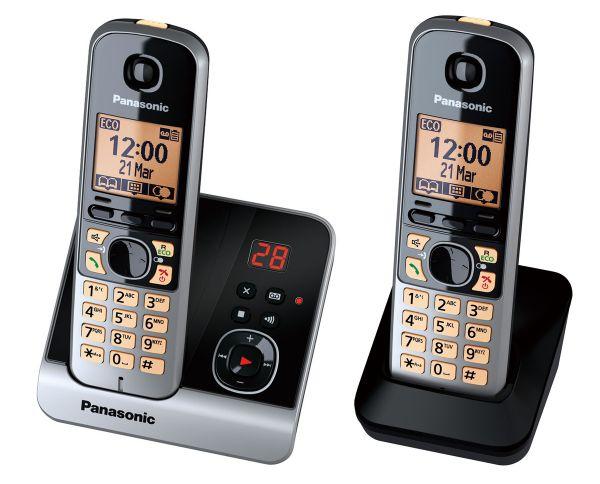 Panasonic KX-TG6722GB schwarz Duo mit AB