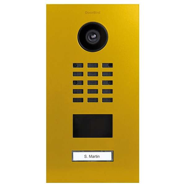 DoorBird D2101V IP Video Türstation, Edelstahl, RAL 1003
