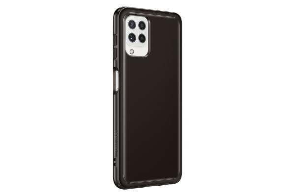Samsung Soft Clear Cover EF-QA225 für Galaxy A22 LTE, Black