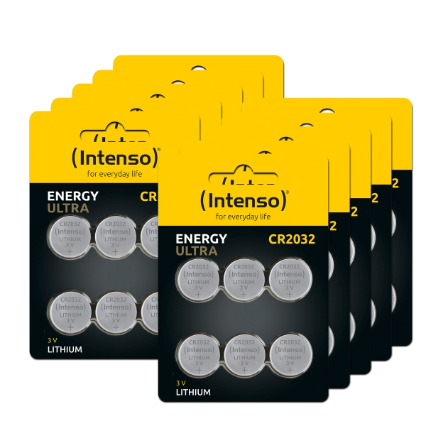 Intenso Lithium Knopfzellen Energy Ultra CR 2032 60er Pack