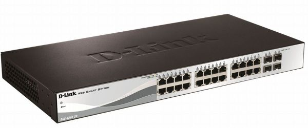 D-Link DGS-1210-28P 28-Port Layer2 PoE Gigabit Smart Managed