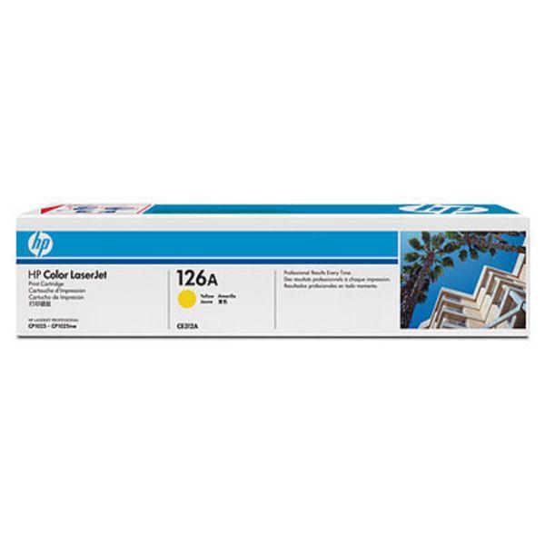 HP Toner CE312A Gelb (ca. 1000 Seiten) HP126A