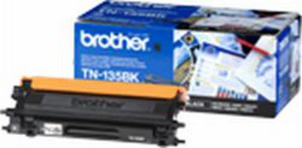 Brother Toner TN-135BK Jumbo Schwarz (ca. 5000 Seiten)