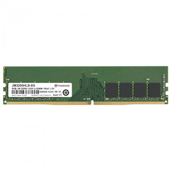 Transcend 8GB DDR4 3200 MT/s UDIMM 288pin 1R x8 unbuffered
