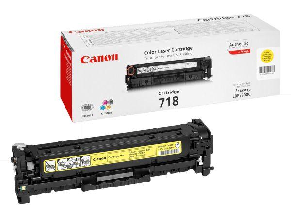 Canon Toner 718 gelb (ca. 2900 Seiten)
