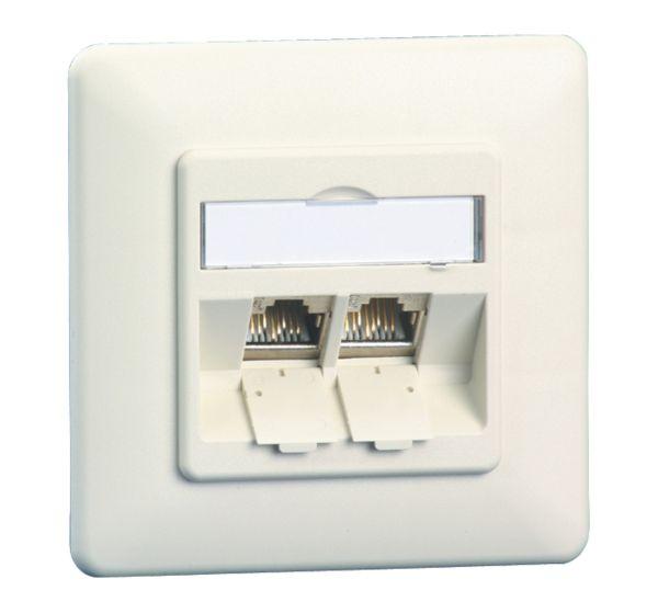 Anschlussdose E-DAT modul 2 Port UP, reinweiß