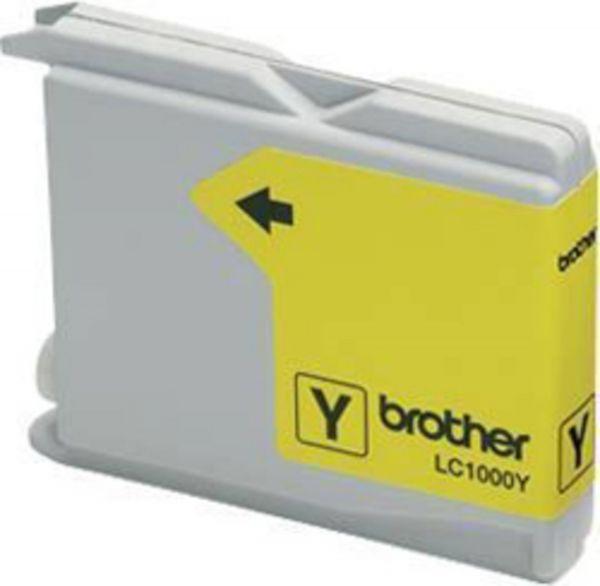 Brother Tintenpatrone LC-1000Y Gelb (ca. 400 Seiten)