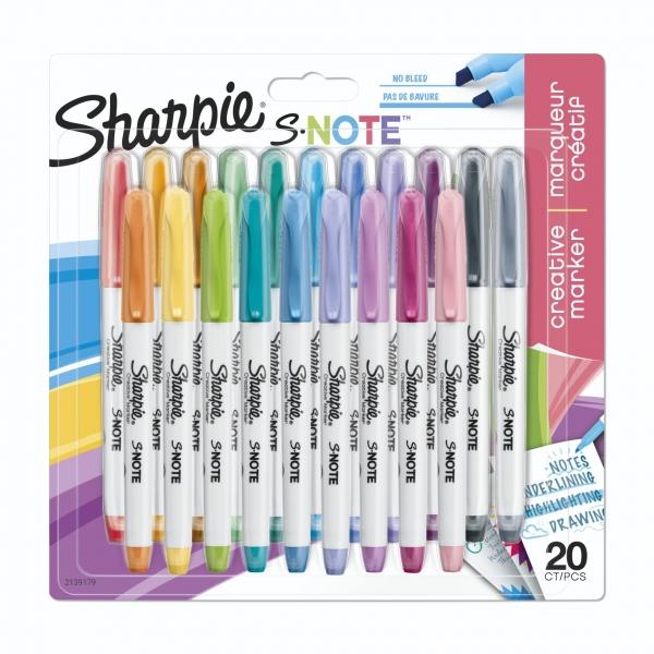 1x20 Sharpie Kreativmarker S-Note 20 Farben
