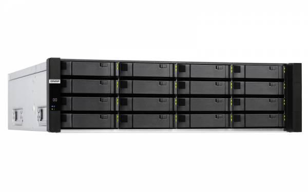 QNAP ES1686dc D-2123IT Eingebauter Ethernet-Anschluss Rack (3U) Schwarz, Grau NAS