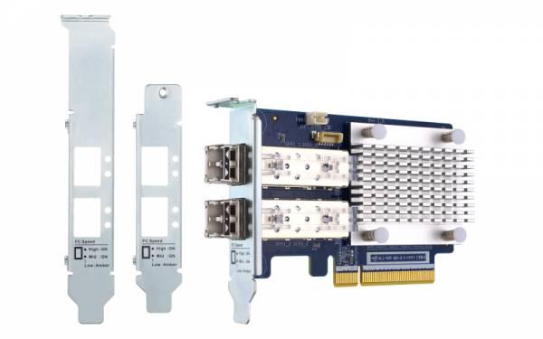QNAP QXP-16G2FC Netzwerkkarte Faser 14025 Mbit/s Eingebaut