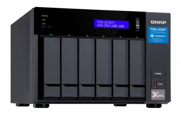 QNAP TVS-672XT i3-8100T Eingebauter Ethernet-Anschluss Tower Schwarz NAS