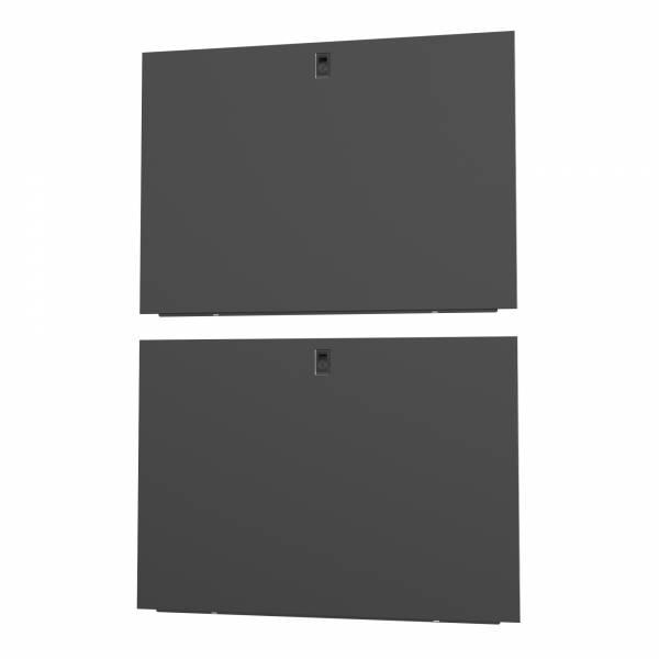 Vertiv 42 HE × Tiefe 1200 mm, geteilte Seitenwände, Schwarz (2 Stück)