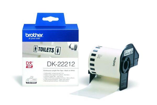 Endlos-Etikettenfilm DK-22212 weiß, 62mm x 15,24m