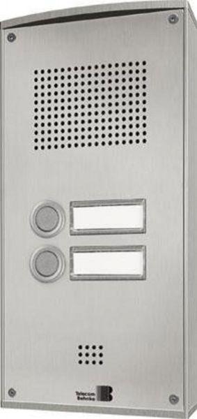 Behnke 5-0061 Serie 5 Aufputz-Set mit 2-Ruftasten (Edelstahl)