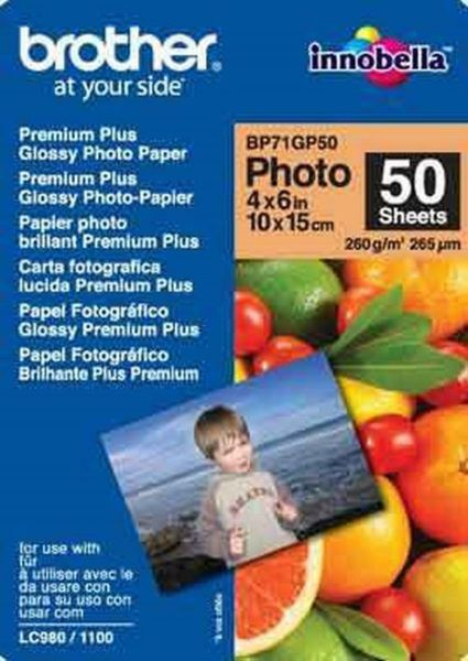 Brother Fotopapier A6 50 Blatt (bis 6000 dpi) 260g/m²